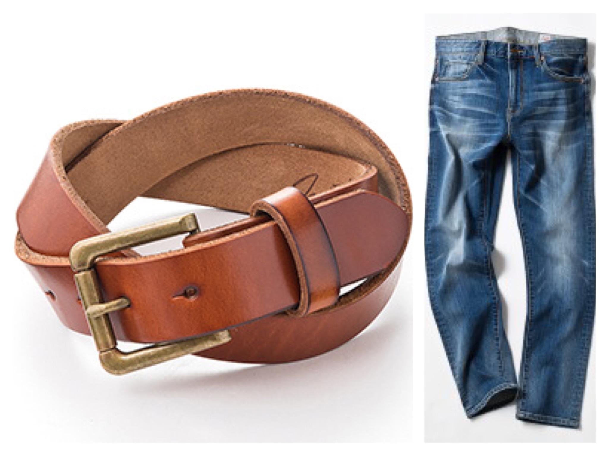 MATEシリーズのジーンズとベルトがセット買いで¥1,000引き!